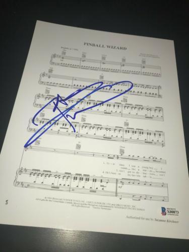 Pete Townshend Signed Autograph Sheet Music Pinball Wizard The Who Beckett Bas