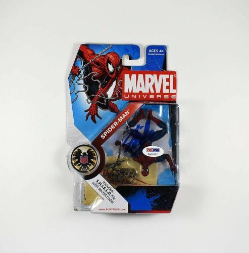 Stan Lee Spider Man Marvel Avengers Autographed Signed Action Figure PSA/DNA COA