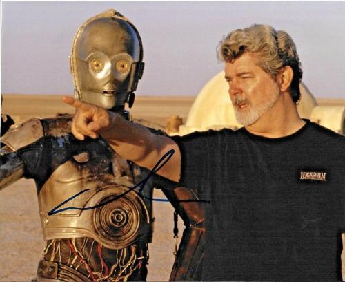 George Lucas Star Wars Empire Strikes Back Signed 8x10 Auto Photo DG COA (C)