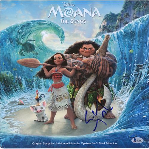 Lin-Manuel Miranda Moana Autographed Moana Official Soundtrack Album - BAS