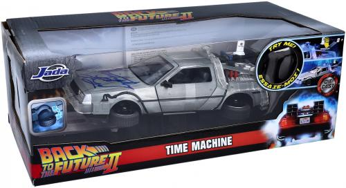 Christopher Lloyd Back to The Future Autographed Delorean Die Cast Car