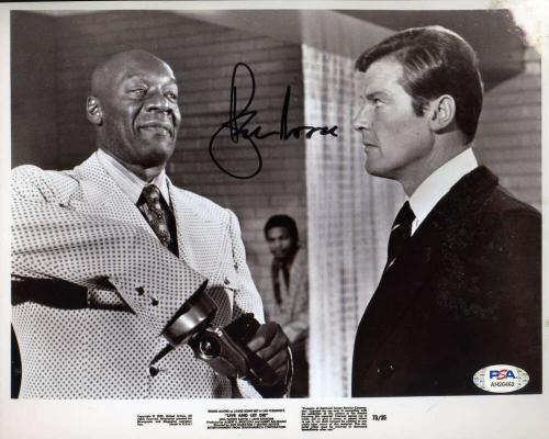 Roger Moore PSA DNA Coa Signed 8x10 James Bond 007 Photo Autograph