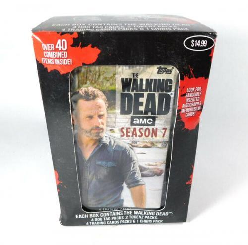 2017 Topps The Walking Dead Season 7 Trading Card Dog Tag Box