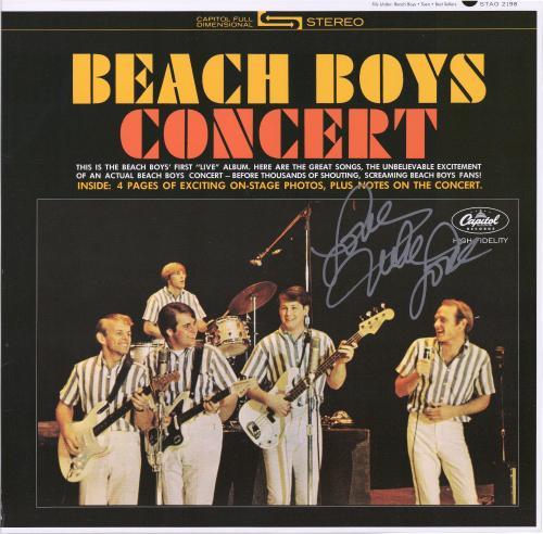 Mike Love Autographed Beach Boys Concert Album Cover - BAS
