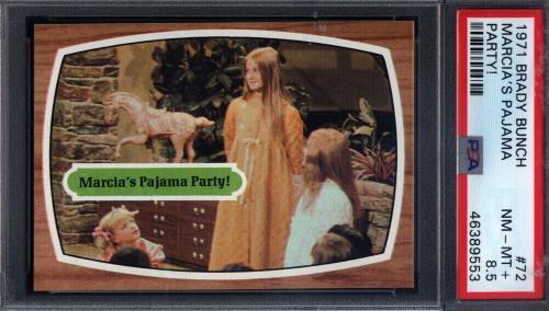1971 Topps Brady Bunch #72 Marcia's Pajama Party PSA 8.5 pop 3 (Only 2 Higher)