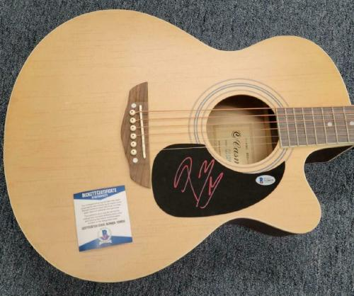 Post Malone signed Full Size Acoustic Guitar Rapper Autograph 1~ Beckett BAS COA