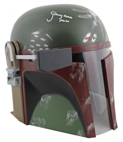 Star Wars Jeremy Bulloch Boba Fett Signed Rubies Boba Fett Deluxe Helmet BAS