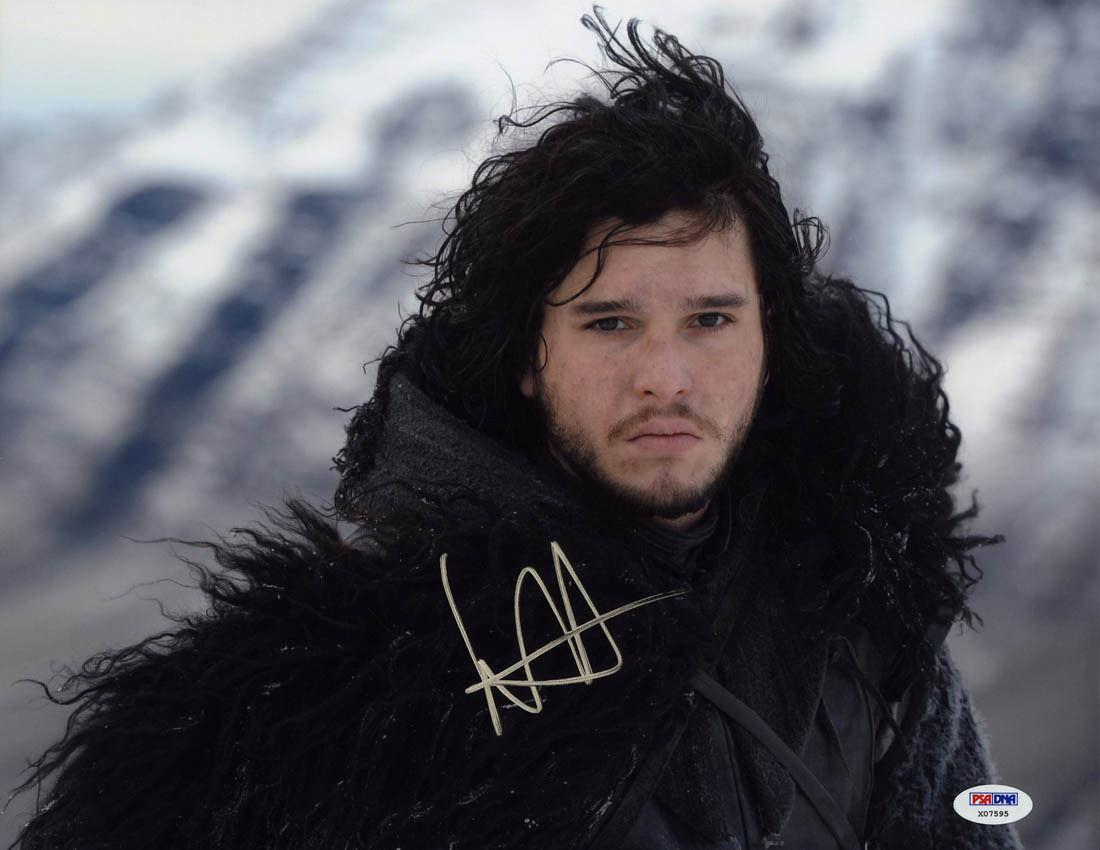 Kit Harington SIGNED 11x14 Photo Jon Snow Game of Thrones PSA/DNA AUTOGRAPHED