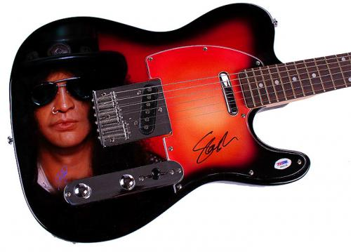 Guns N Roses Slash Autographed Signed Tele Airbrushed Guitar Preorder PSA AFTAL