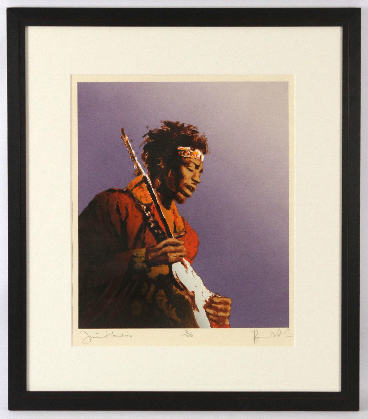 1991 Ronnie Wood, Rolling Stones, Jimi Hendrix, LE Screenprint on Somerset Paper