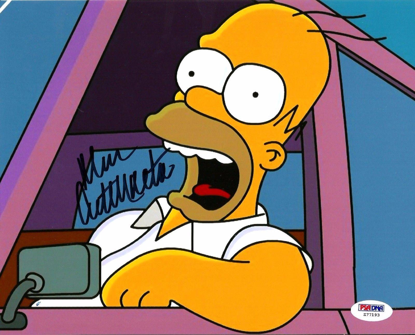 Dan Castellaneta The Simpsons Homer Simpson Signed Auto 8x10 PSA/DNA COA #2