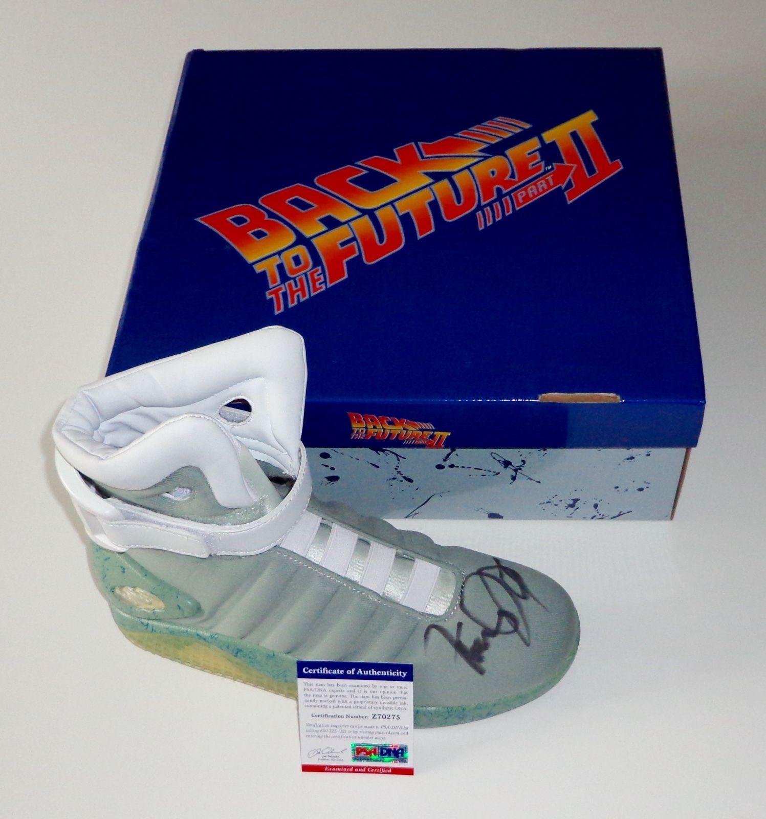 Michael J. Fox Signed Back To The Future Air Mag Sneaker Exact Proof Psa Z70275