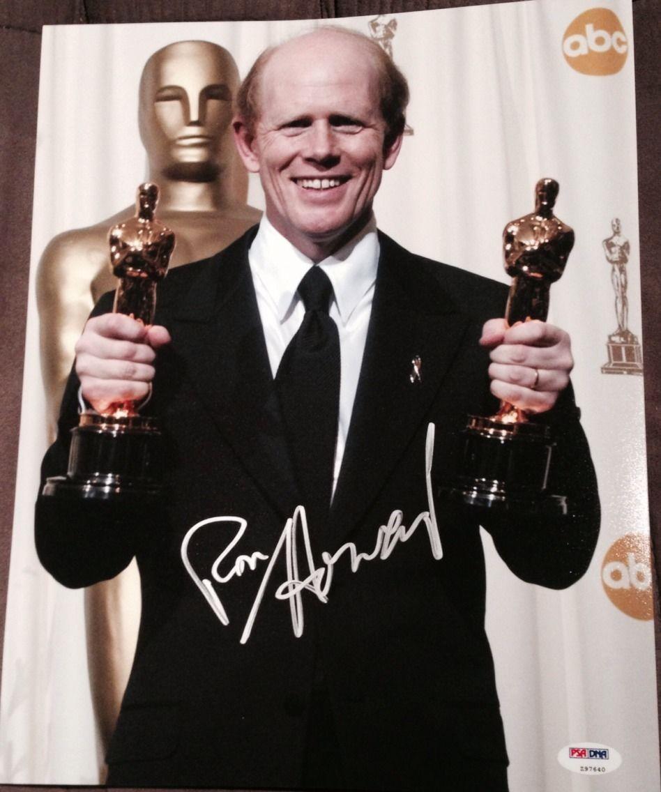 Ron Howard Signed Autograph Oscar Winner Trophy 11x14 Photo Psa/dna Z97640