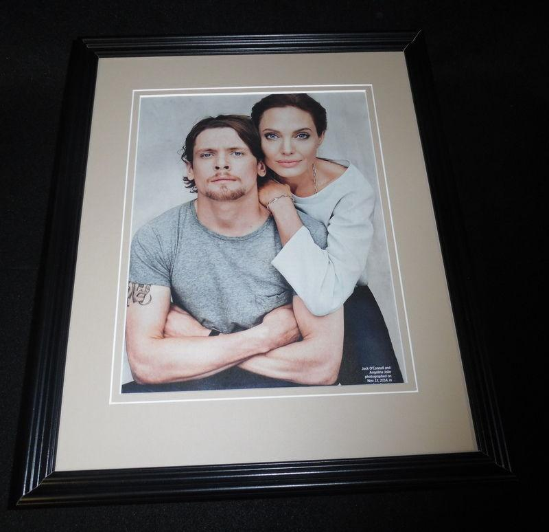 Angelina Jolie & Jack O'Connell 2014 Framed 11x14 Photo Display