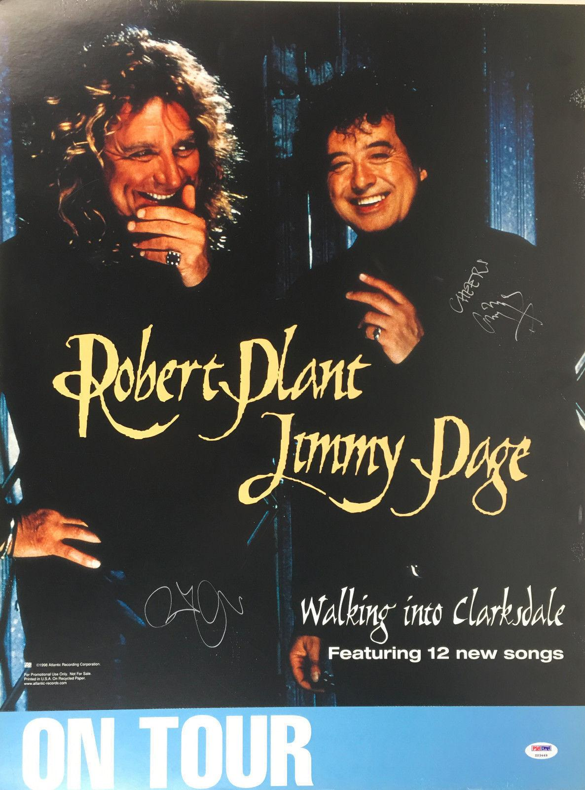 Robert Plant & Jimmy Page Signed Autographed Poster PSA/DNA