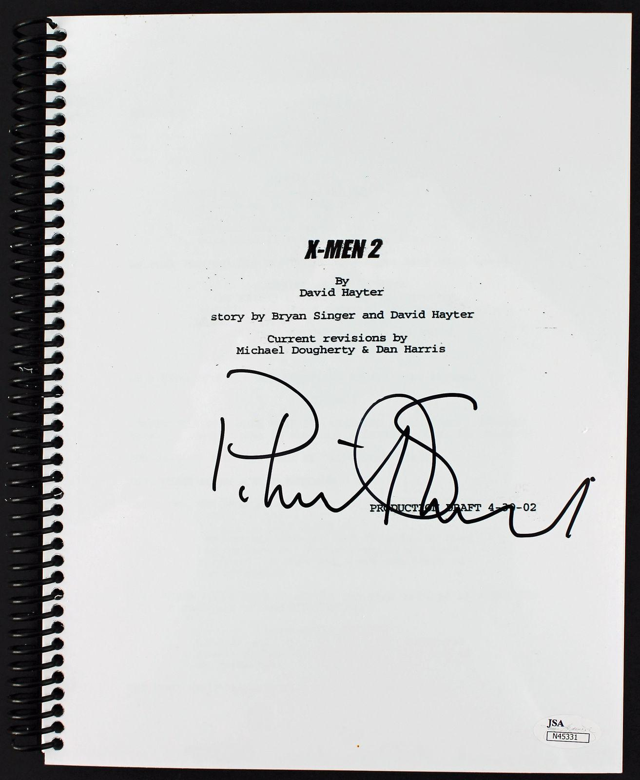 Patrick Stewart Signed X-Men 2 Script Autographed JSA #N45331