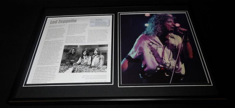 Led Zeppelin Framed 12x18 Photo Display Robert Plant Jimmy Page John Bonham