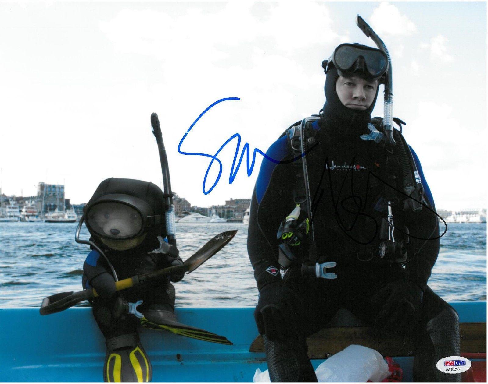 Mark Wahlberg & Seth MacFarlane Signed Ted 2 Auto 11x14 Photo PSA/DNA #AA18253