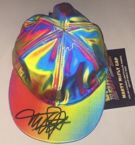 """Michael J. Fox Signed """"back To The Future"""" Exact Replica Marty Mcfly Hat Cap"""