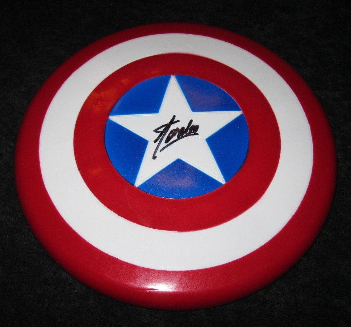 Stan Lee Signed Marvel Captain America Shield Jsa Coa