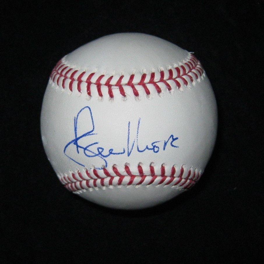 Roger Moore Signed Mlb Baseball James Bond 007 Jsa Coa