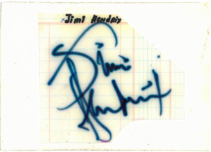 Jimi Hendrix Signed Authentic Autographed 4x6 Cut Signature PSA/DNA #H56070