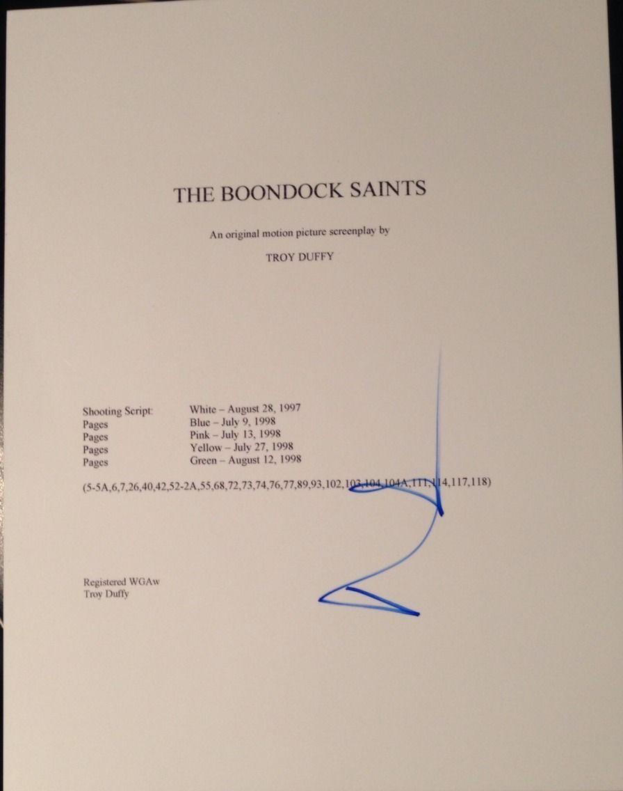 "Norman Reedus Signed Autograph ""the Boondock Saints"" Full Movie Script With Coa"