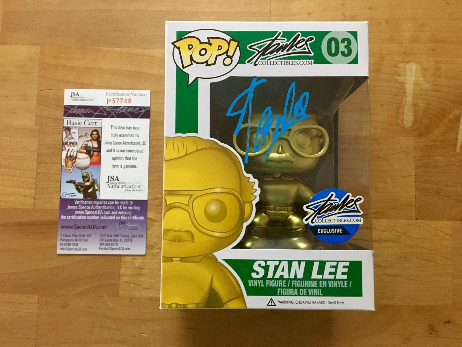Stan Lee Signed Stan Lee Gold Funko Pop Figure Limited Edition JSA Coa