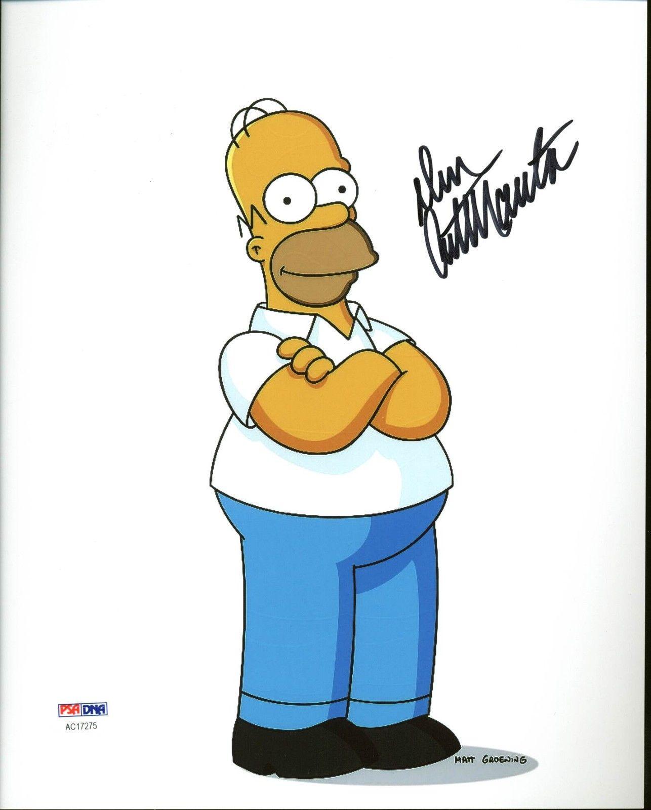 Dan Castellaneta The Simpsons Signed 8X10 Photo PSA/DNA #AC17275
