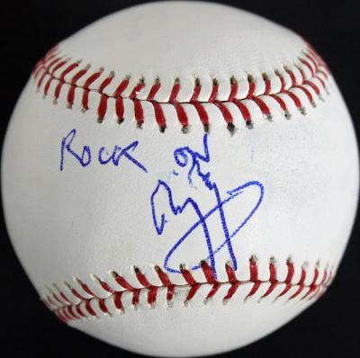 "Jimmy Page Led Zeppelin ""Rock On"" Signed OML Baseball PSA/DNA #AB08233"