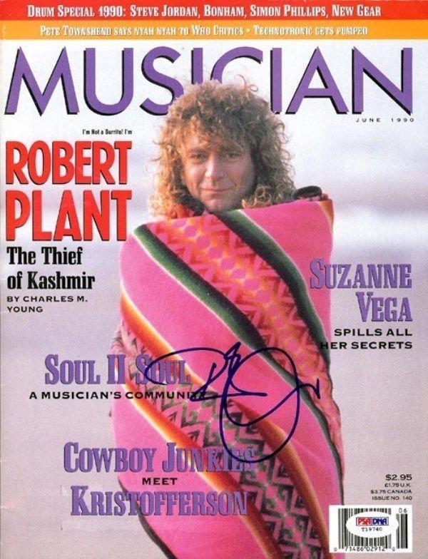 Robert Plant Autographed Signed Magazine PSA/DNA #T19740