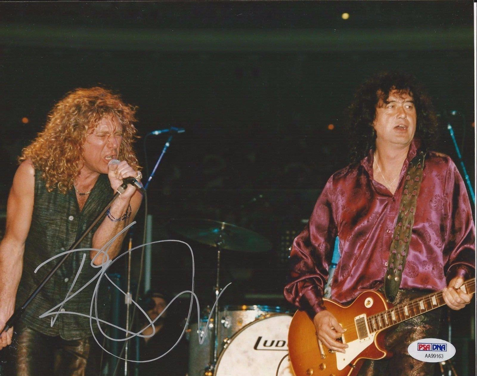 ROBERT PLANT Signed 8 x10 LED ZEPPELIN CONCERT PHOTO with PSA/DNA COA