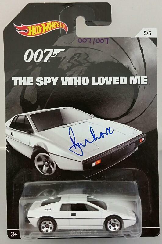 ROGER MOORE Signed James Bond 007 LOTUS ESPRIT S1 Hot Wheel *#007* /007 PSA/DNA