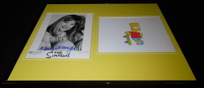 Nancy Cartwright Signed Framed 16x20 Photo Set Simpsons Bart Voice