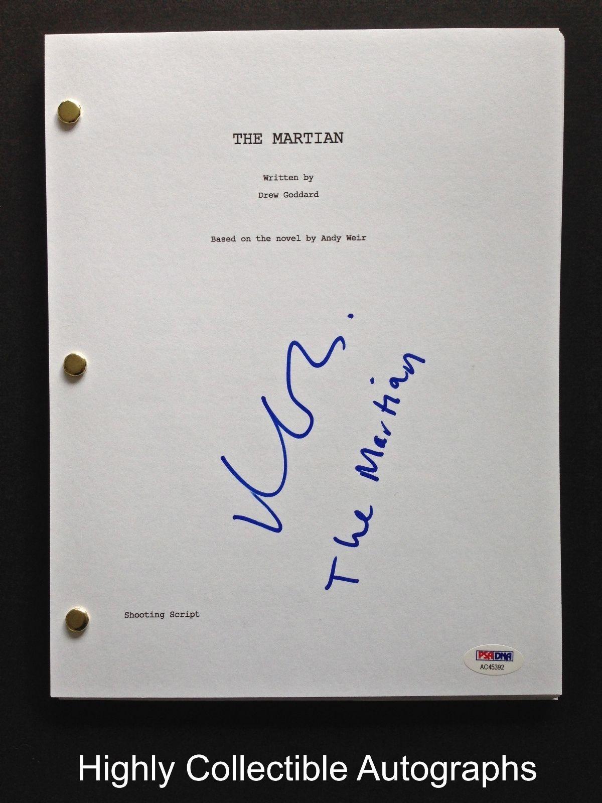 Matt Damon Signed Full 120 Page The Martian Movie Script Psa Dna Coa