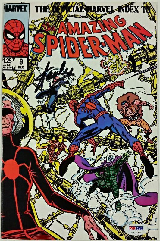 STAN LEE Signed Official Marvel Index to The Amazing Spider-Man Comic #9 PSA/DNA
