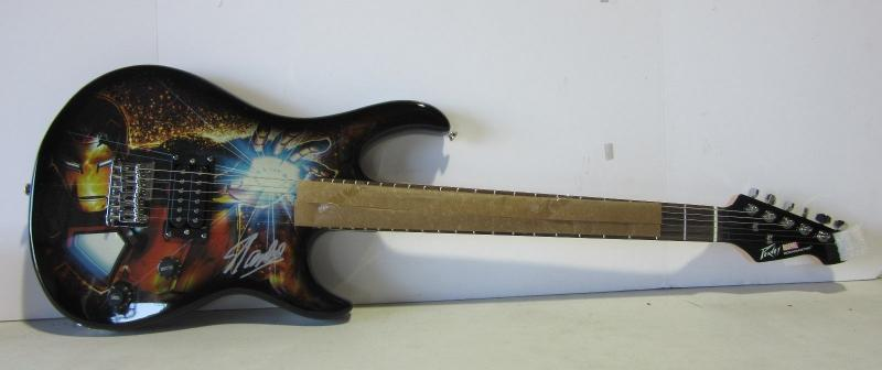 Stan Lee Signed Marvel Ironman Peavey Rockmaster Guitar Limited To 300 Psa/dna