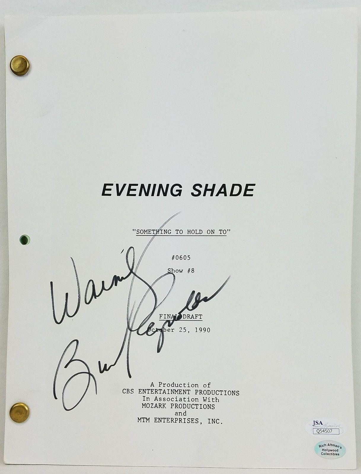 Burt Reynolds Signed 'Evening Shade' Episode Script Autographed JSA #Q54507