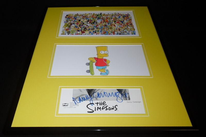 Nancy Cartwright Signed Framed 16x20 Photo Set Simpsons Universe Bart