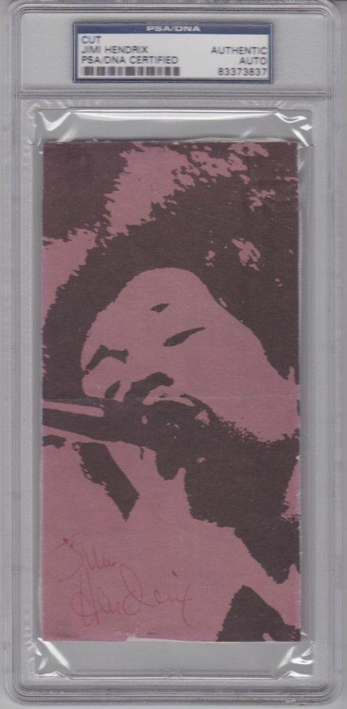 JIMI HENDRIX Signed Autographed Magazine Photo CUT PSA/DNA SLABBED #83373837
