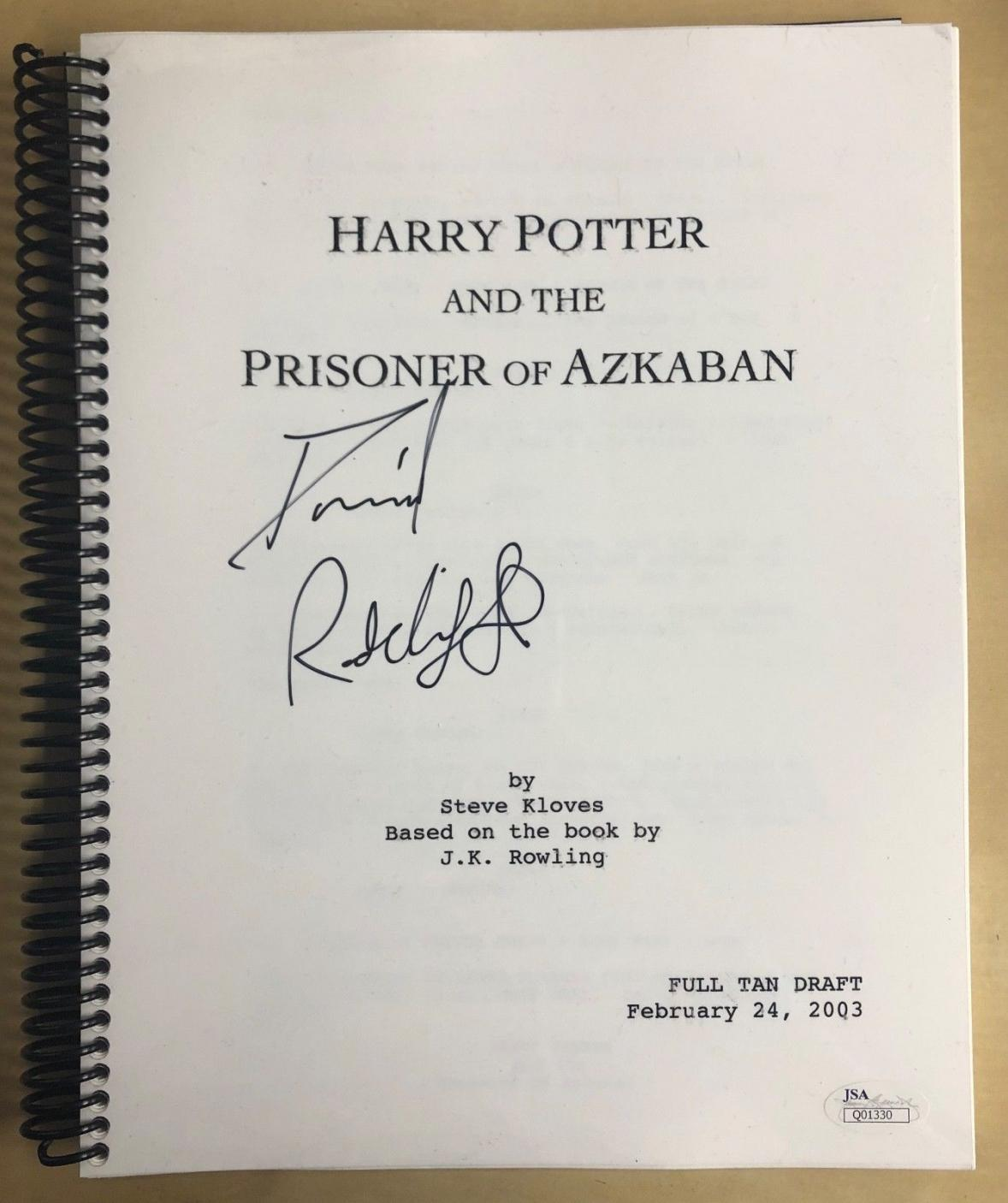 Daniel Radcliffe Signed Harry Potter & the Prisoner of Azkaban Movie Script JSA
