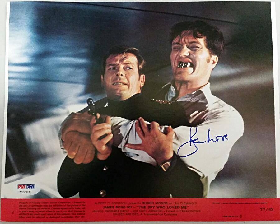 ROGER MOORE Signed Original Lobby Card The Spy Who Loved Me 8x10 w/ PSA/DNA