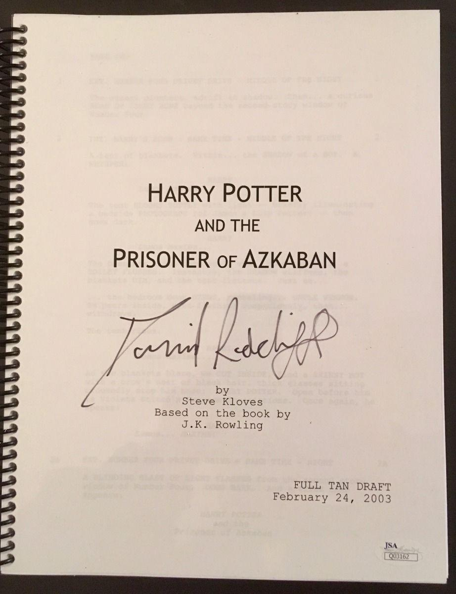 "RARE-DANIEL RADCLIFFE (Harry Potter)signed Prisoner of Azkaban"" movie script-JSA"