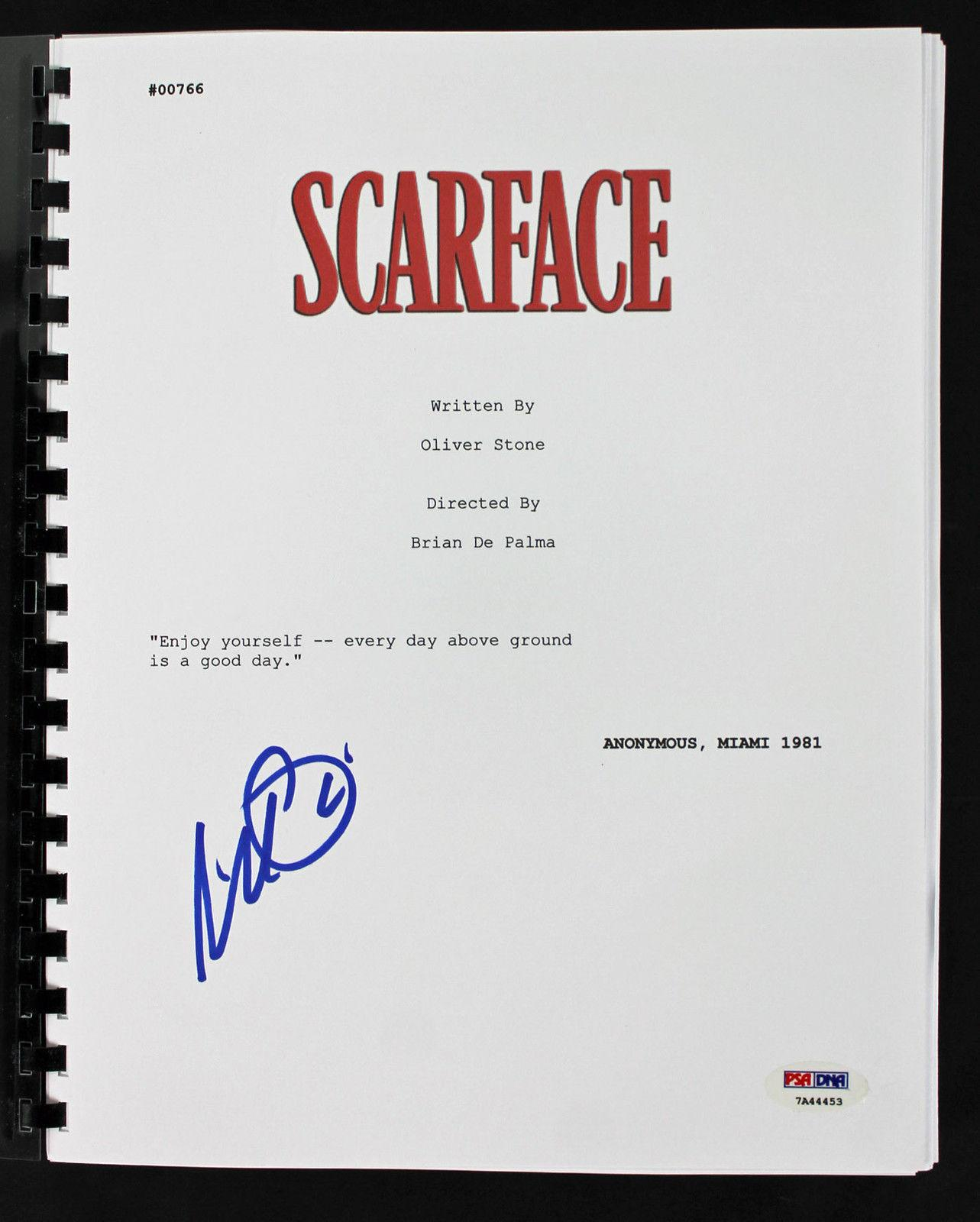Al Pacino Signed Scarface Movie Script PSA/DNA #7A44453