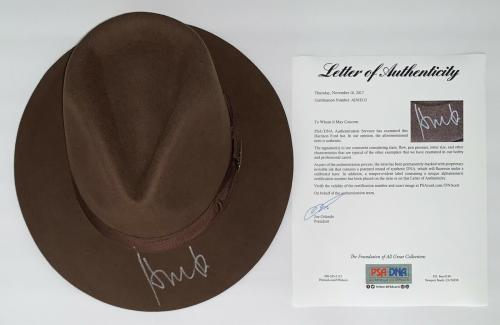 Harrison Ford Signed Indiana Jones Authentic Hat Psa Loa Ad03212