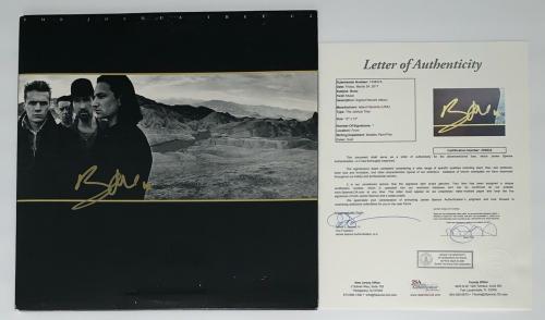 Bono Signed U2 The Joshua Tree Record Album Jsa Loa Z08922