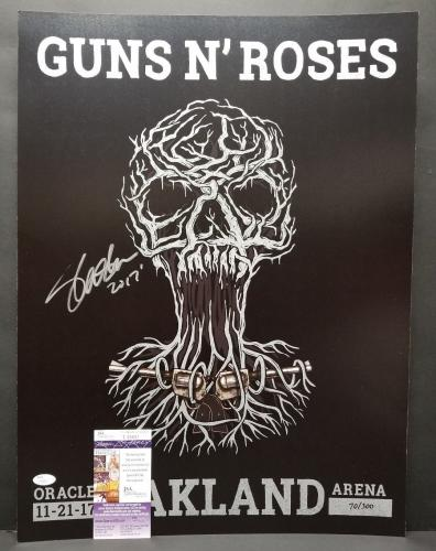 SLASH Signed Autographed GUNS N ROSES 2017 TOUR OAKLAND 18X24 Poster. JSA