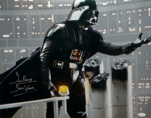 David Prowse Darth Vader Signed Star Wars 16x20 Gray Photo- JSA Auth *Silver
