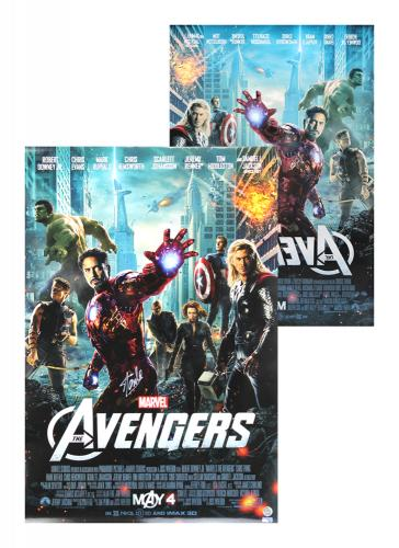 Stan Lee Signed 2-Sided Marvel Avengers Motion Picture 24×36 Original Movie Poster