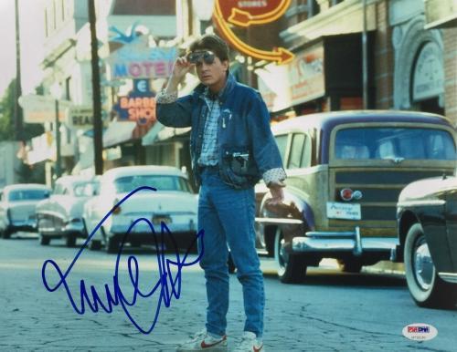 Michael J. Fox Signed 11x14 Back To The Future Photo PSA U73130